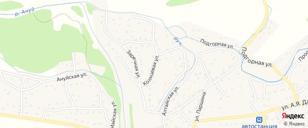 Кольцевая улица на карте Солонешного села с номерами домов