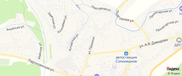 Алтайская улица на карте Солонешного села с номерами домов