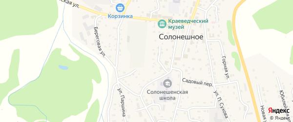 Парковая улица на карте Солонешного села с номерами домов