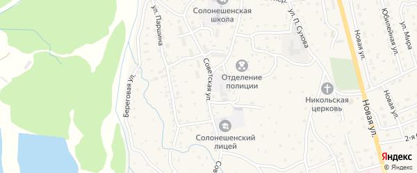 Советская улица на карте Солонешного села с номерами домов