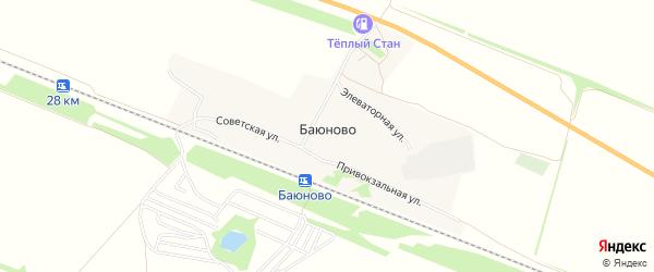 Карта станции Баюново в Алтайском крае с улицами и номерами домов