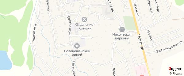 Красноармейская улица на карте Солонешного села с номерами домов