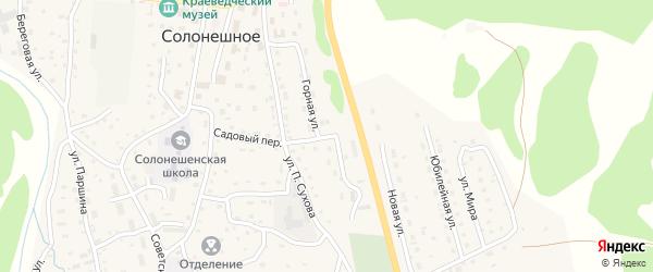 Горная улица на карте Солонешного села с номерами домов