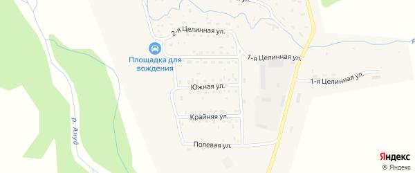 Южная улица на карте Солонешного села с номерами домов