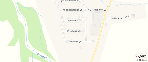 Крайняя улица на карте Солонешного села с номерами домов