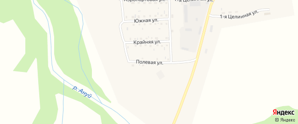 Полевая улица на карте Солонешного села с номерами домов