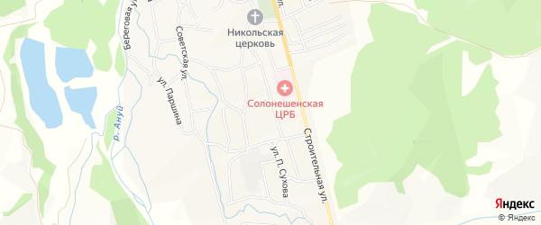 Карта Солонешного села в Алтайском крае с улицами и номерами домов