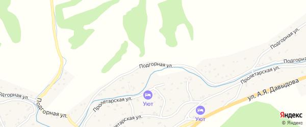 Подгорная улица на карте Солонешного села с номерами домов