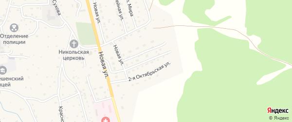 1-я Октябрьская улица на карте Солонешного села с номерами домов