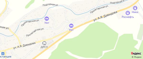 Улица Давыдова А.Я. на карте Солонешного села с номерами домов