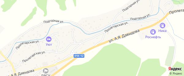 Пролетарская улица на карте Солонешного села с номерами домов