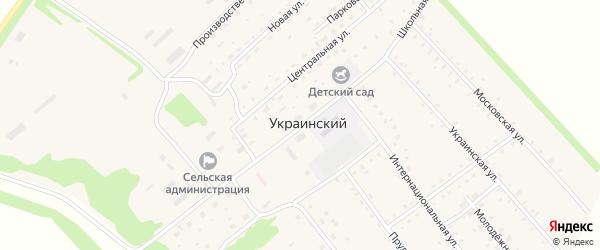 Школьная улица на карте Украинского поселка с номерами домов