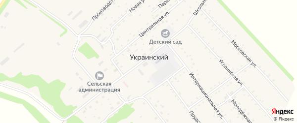 Парковая улица на карте Украинского поселка с номерами домов