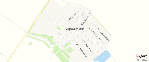 Карта Украинского поселка в Алтайском крае с улицами и номерами домов