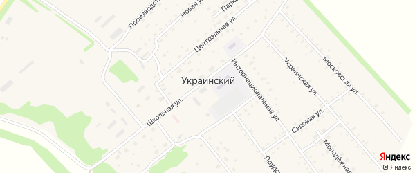 Прудская улица на карте Украинского поселка с номерами домов