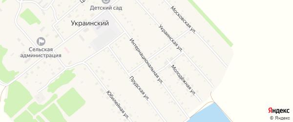 Интернациональная улица на карте Украинского поселка с номерами домов