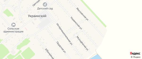 Садовая улица на карте Украинского поселка с номерами домов