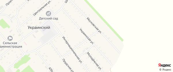 Украинская улица на карте Украинского поселка с номерами домов