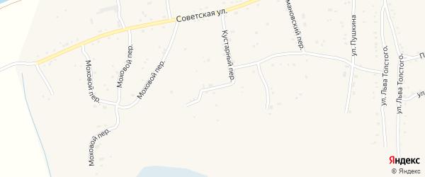 Кустарный переулок на карте села Быстрого Истока с номерами домов