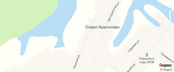 Нижняя улица на карте села Озеро-Красилово с номерами домов