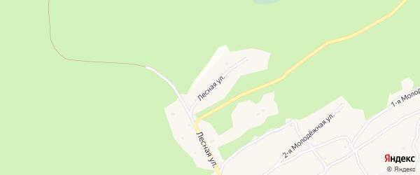 Лесная улица на карте Многоозерного поселка с номерами домов