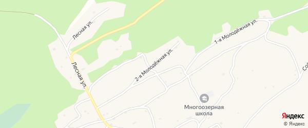 2-я Молодежная улица на карте Многоозерного поселка с номерами домов