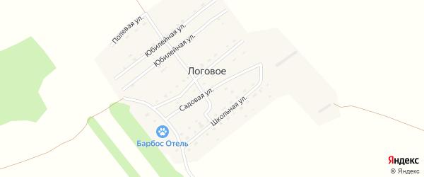 Садовая улица на карте Логового поселка с номерами домов