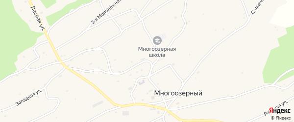 Школьная улица на карте Многоозерного поселка с номерами домов