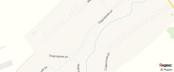 Подгорная улица на карте села Камышенки с номерами домов