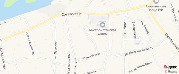 Пионерский переулок на карте села Быстрого Истока с номерами домов