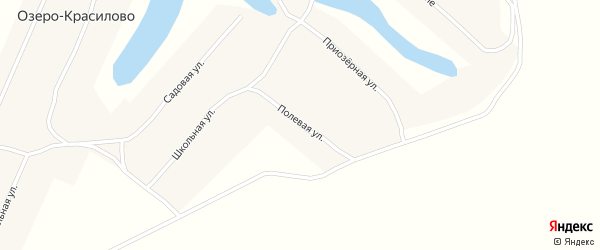 Полевая улица на карте села Озеро-Красилово с номерами домов