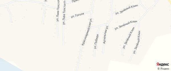 Красноармейская улица на карте села Быстрого Истока с номерами домов