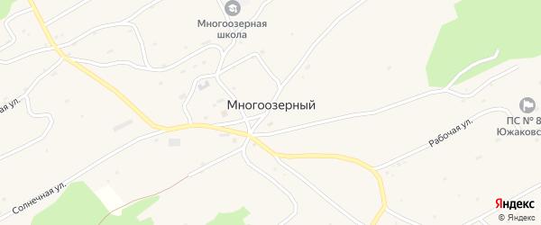 Солнечная улица на карте Многоозерного поселка с номерами домов