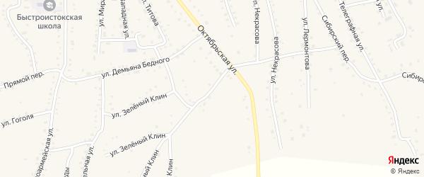 Улица Д.Ереминой на карте села Быстрого Истока с номерами домов