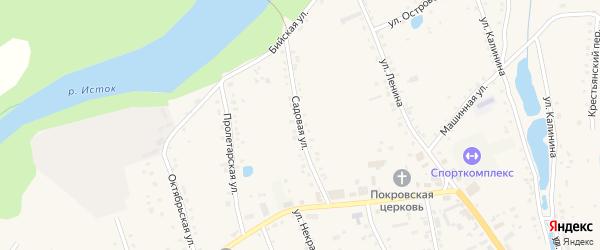 Садовая улица на карте села Быстрого Истока с номерами домов