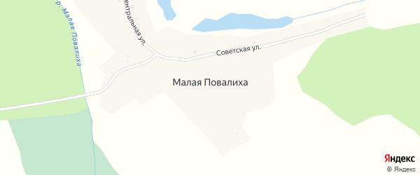 Советская улица на карте села Малой Повалиха с номерами домов