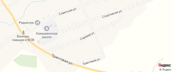 Садовая улица на карте села Камышенки с номерами домов