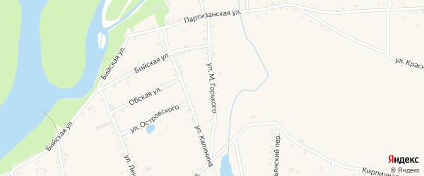 Улица Максима Горького на карте села Быстрого Истока с номерами домов