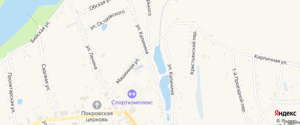 Улица Калинина на карте села Быстрого Истока с номерами домов