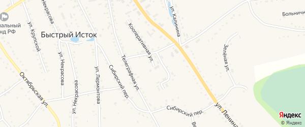 Искринский переулок на карте села Быстрого Истока с номерами домов
