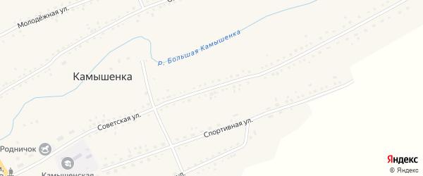 Советская улица на карте села Камышенки с номерами домов