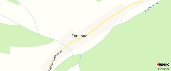 Будачихинская улица на карте села Елиново с номерами домов
