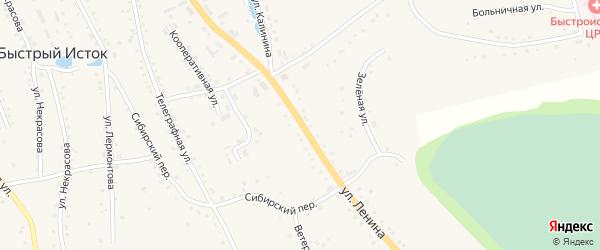 Улица Ленина на карте села Быстрого Истока с номерами домов