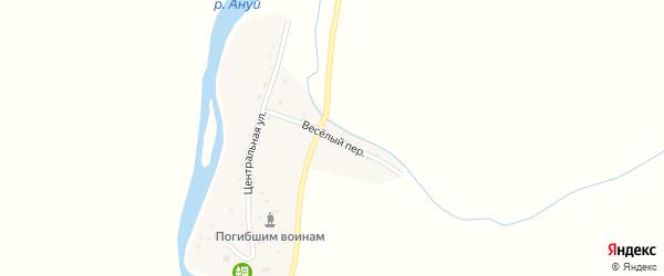 Веселый переулок на карте села Искры с номерами домов