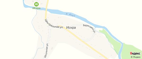 Береговая улица на карте села Искры с номерами домов