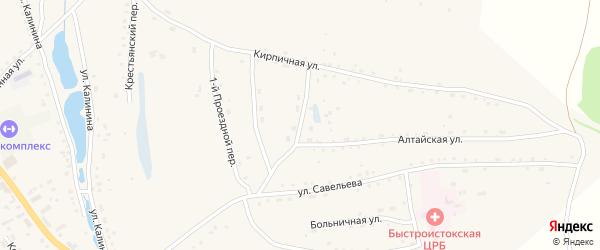 Проездной 2-й переулок на карте села Быстрого Истока с номерами домов