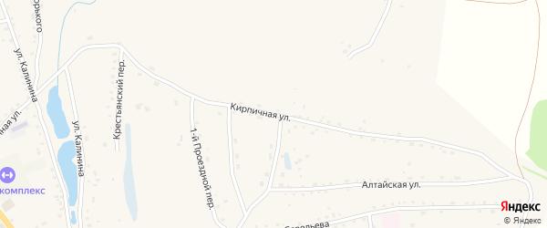 Кирпичная улица на карте села Быстрого Истока с номерами домов