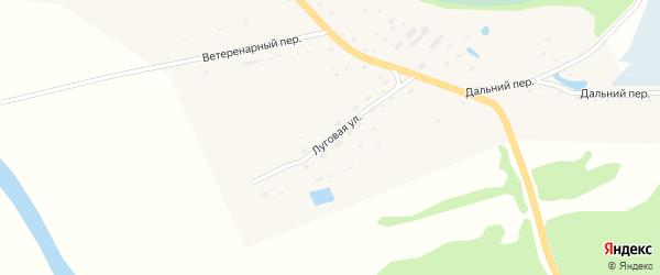 Луговая улица на карте села Быстрого Истока с номерами домов