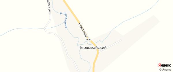 Болотная улица на карте Первомайского поселка с номерами домов