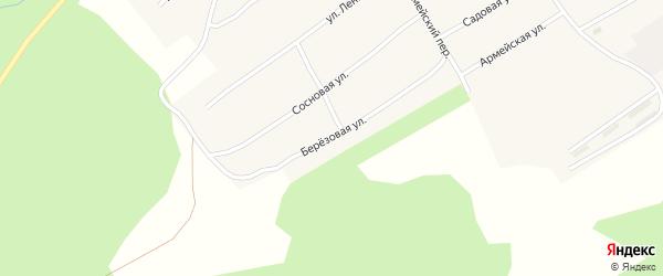 Березовая улица на карте Заводского села с номерами домов